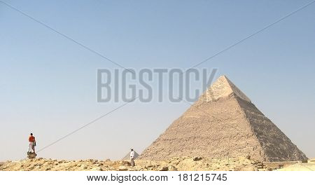 The pyramid of Cheops in Egypt. Panorama