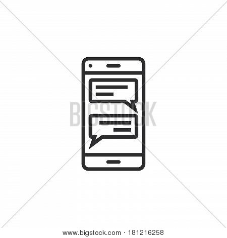 Instant Messaging Client For Smartphones Line Icon, Sms Chat Outline Vector Logo Illustration, Linea