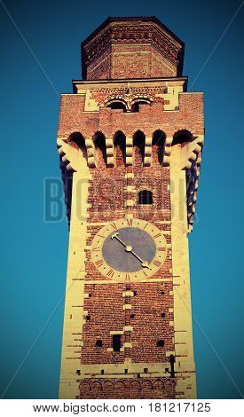 bell tower of an ancient Christian church called Saints Felice and Fortunato in Vicenza Italy