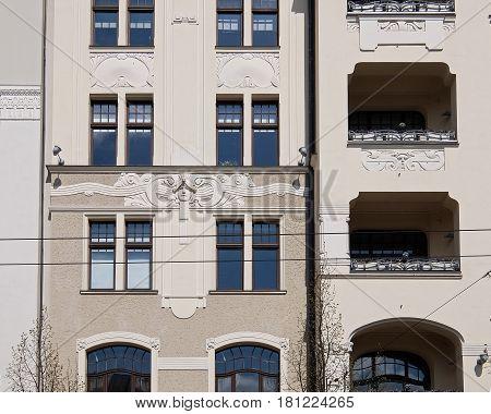 Riga, Elizabetes Street 22, Art Nouveau, National Romanticism, Elementi