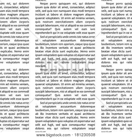 A lot of latin text on white abstract seamless pattern