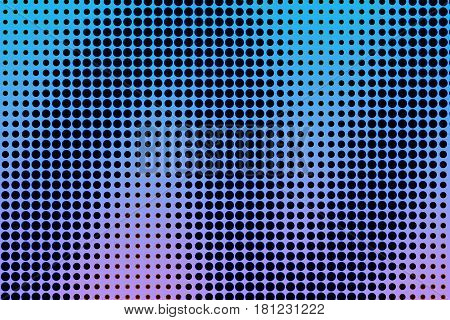 Halftone Background. Red Blue Violet Orange Creative Illustration With Copy Space
