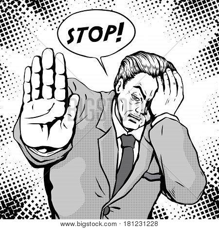 Comic Male Stop