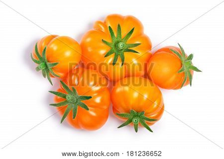 Yellow Ribbed Tomatoes, Paths, Top View