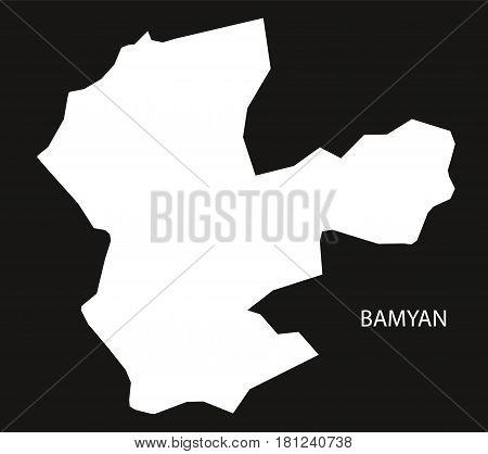 Bamyan Afghanistan Map Black Inverted Silhouette Illustration