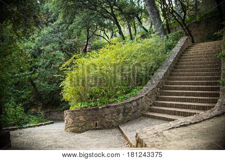 Rock Staircase outdoors in Garden at Park