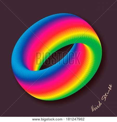 Multicolour business abstract circle icon for your design. logotype. Vector illustration