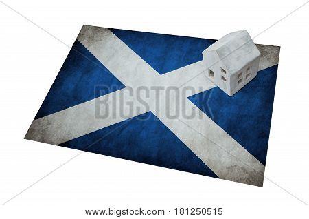 Small House On A Flag - Scotland