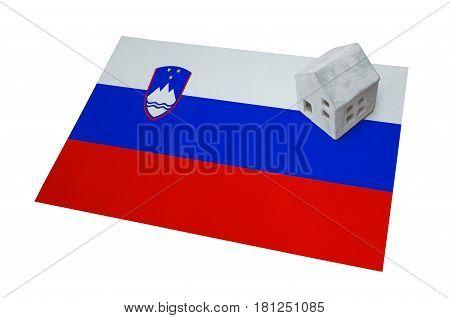 Small House On A Flag - Slovenia