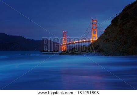 Golden Gate Bridge At Baker Beach, San Francisco, California, Usa