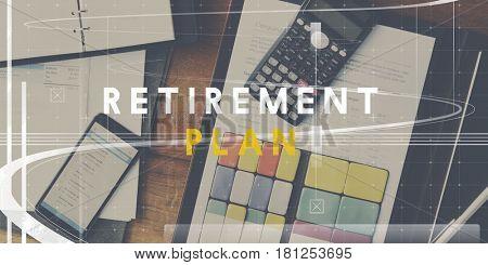 Retirement Plan Investment Profit Word