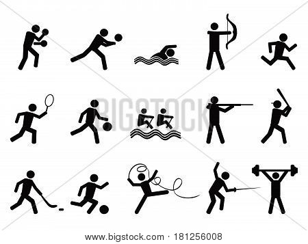 Isolated sport silhouettes icon on white background