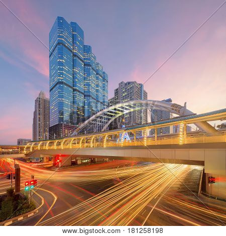 Chong Nonsi, Bts Skytrain, Sathorn Intersection, Bangkok, Thailand