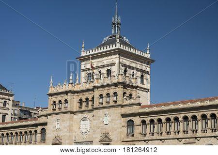 Valladolid (Castilla y Leon Spain): fhistoric palace in Plaza de Zorrilla
