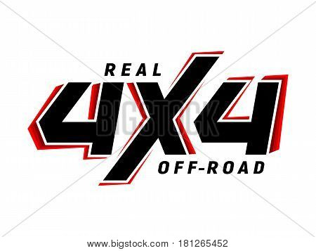 4x4 off-road emblem. Extreme Suv logo vector illustration