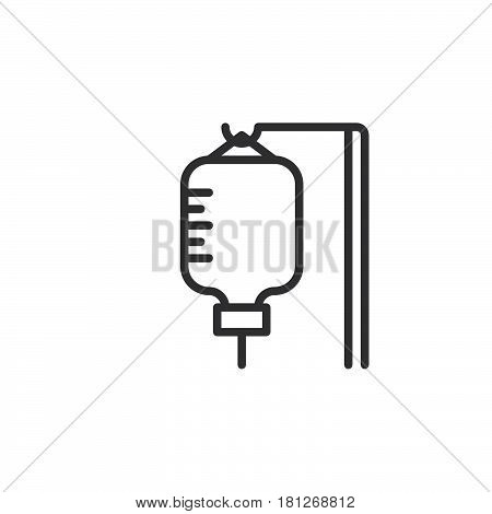 Infusion drip line icon outline vector sign linear style pictogram isolated on white. Symbol logo illustration. Editable stroke. Pixel perfect