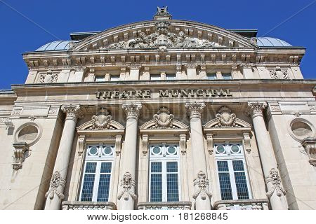 Facade of the theatre in Bourg en Bresse, France