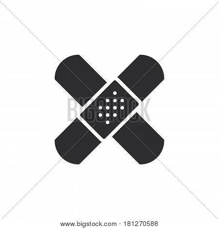 Band aid adhesive bandage icon vector filled flat sign solid pictogram isolated on white. Symbol logo illustration. Pixel perfect