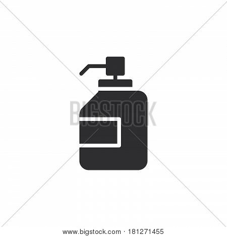 Antibacterial hand sanitizer disinfection gel icon vector filled flat sign solid pictogram isolated on white. Symbol logo illustration. Pixel perfect