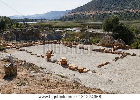 Ruins Of Ancient Andriyake In Turkey