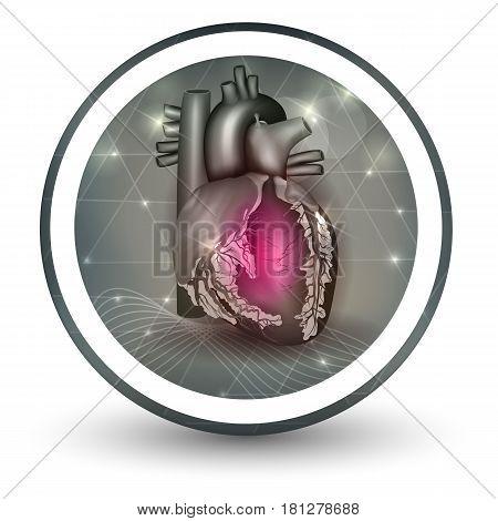 Heart Round Shape Icon