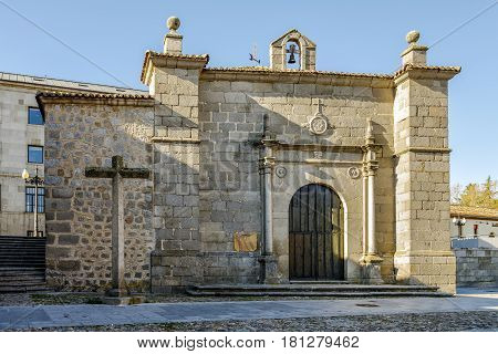 Ermita del Humilladero is the seat of the oldest penitential Brotherhood of Avila Spain