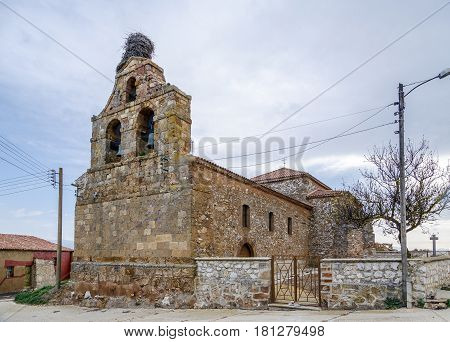 Church of Our Lady of the White in Cardejon Soria. Spain