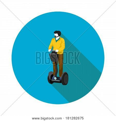 isometric flat icon Segway in vector format