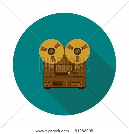 flat icon of a tape recorder in vector format