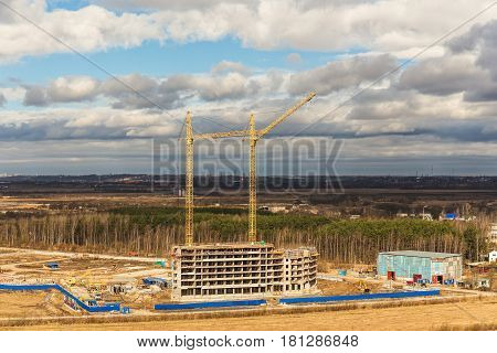 Building site on the outskirts of Sankt-Peterburg