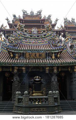 Guandu temple Taiwan colorful  Tourism  Buddhism  Architecture