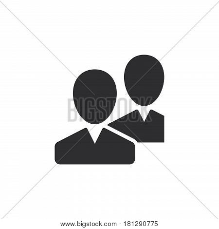 Community users friends icon vector filled flat sign solid pictogram isolated on white. Symbol logo illustration. Pixel perfect
