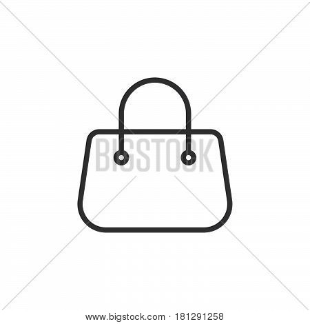 Purse handbag line icon outline vector sign linear style pictogram isolated on white. Symbol logo illustration. Editable stroke. Pixel perfect