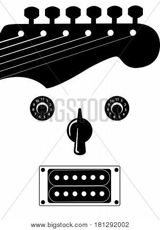 Funky guitar face music background for Print or Web