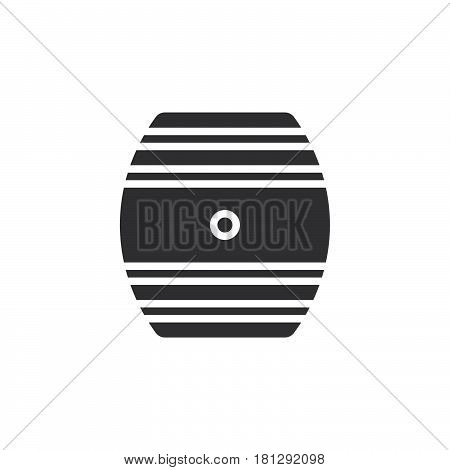 Oak Cask icon vector filled flat sign solid pictogram isolated on white. Symbol logo illustration. Pixel perfect