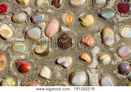 An abstract image background of yuhua colored famous stones in Yuhuatai park in the city of nanjing China Jiangsu province.