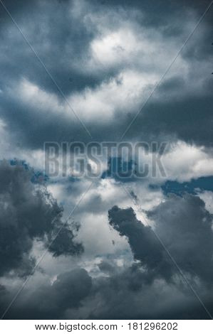 Soft, fluffy and colorful cloud formation. Natural background texture.