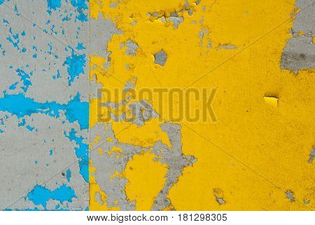 Iron Surface Is Covered With Old Paint, Chipped Paint, Texture Background