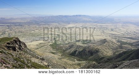 An Aerial View of Hereford Arizona from Miller Canyon in the Huachuca Mountains