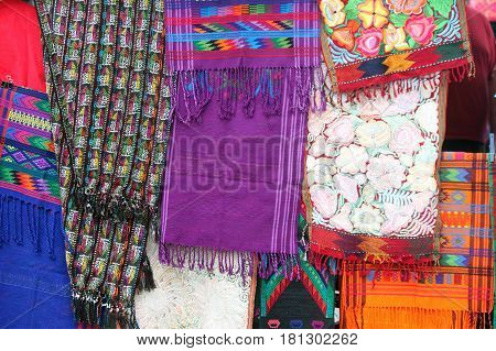 Colorful Tapestries For Sale at the Market