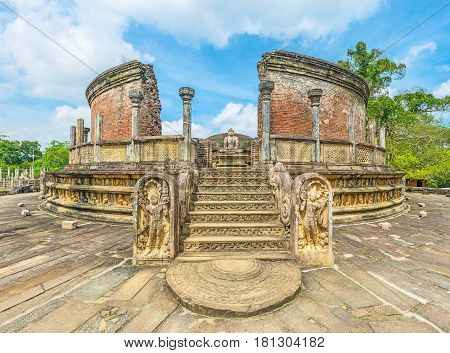 The Ancient Buddhist Shrine Of Polonnaruwa