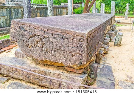 The Stone Book Of Polonnaruwa