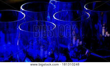 Close up of cool cobalt blue glasses