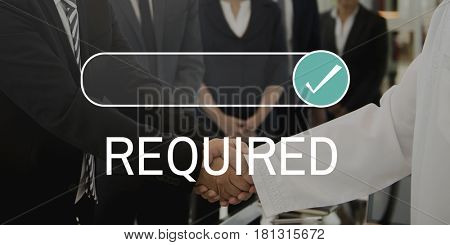 Required Request Business Demand Choice poster