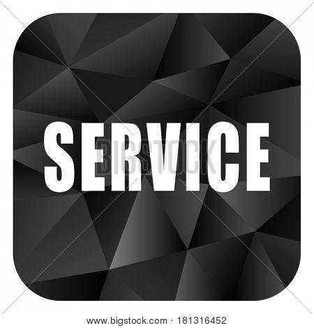 Service black color web modern brillant design square internet icon on white background.