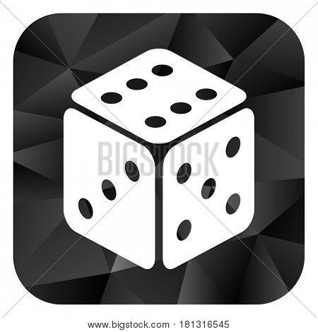 Game black color web modern brillant design square internet icon on white background.
