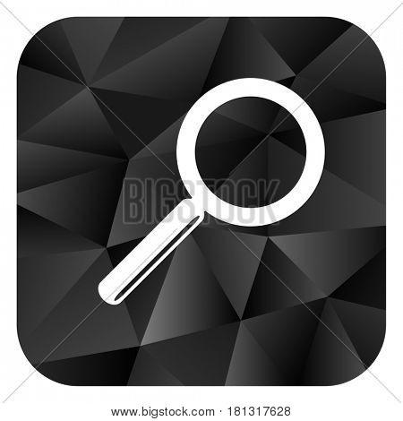 Search black color web modern brillant design square internet icon on white background.