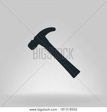 Hammer Flat Style Vector Icon