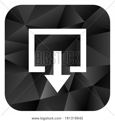 Exit black color web modern brillant design square internet icon on white background.