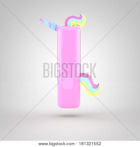 Cute Unicorn Pink Letter L Lowercase